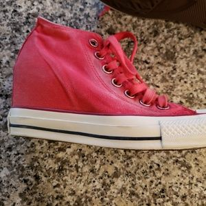 New Converse high top wedges